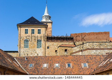 Akershus Fortress  or Akershus Castle, Oslo, the capital of Norway. - stock photo
