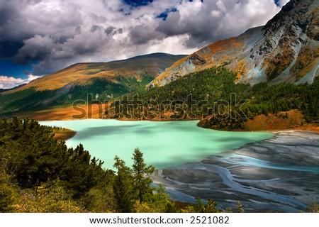 Akkem lake - stock photo
