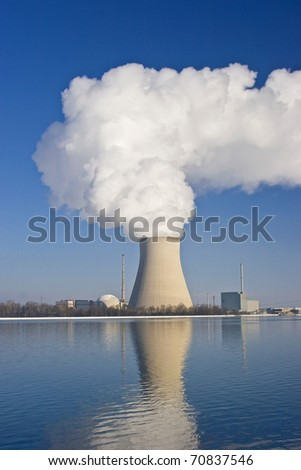 AkW Isar 2 - nuclear power plant - stock photo