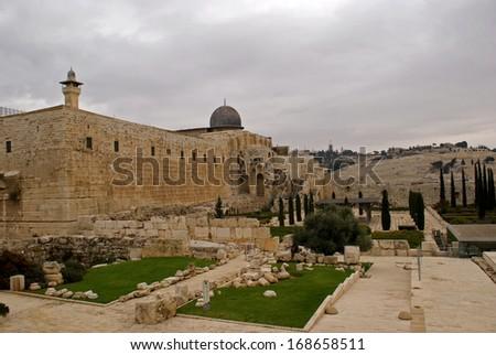 Al Aksa Mosque, Jerusalem, Israel - stock photo