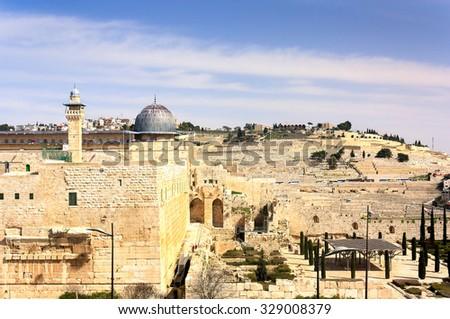 Al-Aqsa Mosque - Jerusalem Old City - stock photo