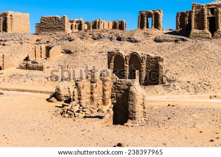 Al-Bagawat (El-Bagawat), an ancient Christian cemetery, one of the oldest in the world, Kharga Oasis, Egypt