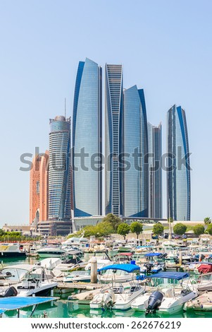 Al Bateen marina in Abu Dhabi - stock photo