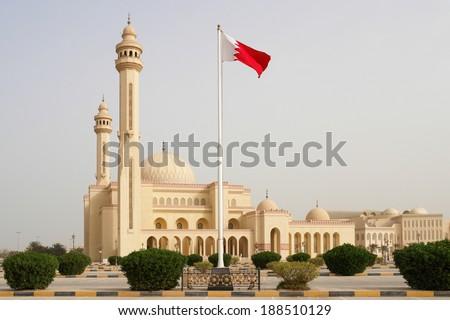 Al-Fateh Grand Mosque - Manama, Bahrain  - stock photo