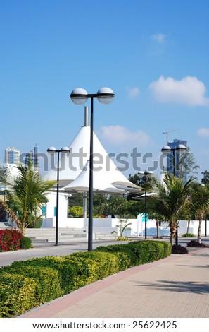 Al Mamzar Park, United Arab Emirates - stock photo