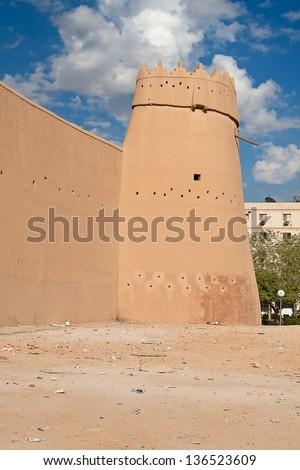 Al Masmak fort in the Riyadh city, Saudi Arabia - stock photo