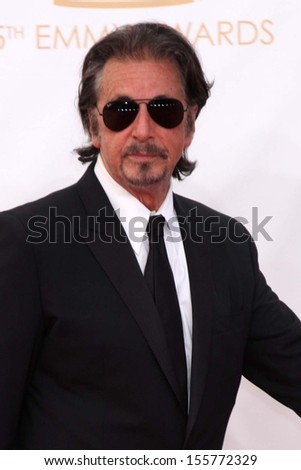 Al Pacino at the 65th Annual Primetime Emmy Awards Arrivals, Nokia Theater, Los Angeles, CA 09-22-13 - stock photo