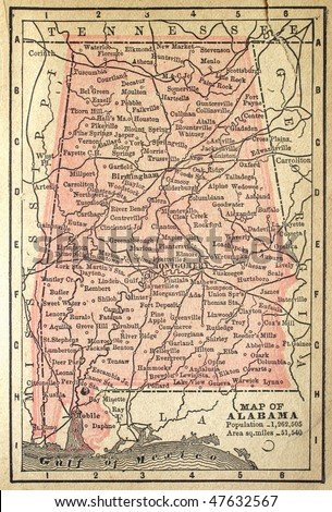 Alabama Map Stock Images RoyaltyFree Images Vectors Shutterstock - Maps of alabama