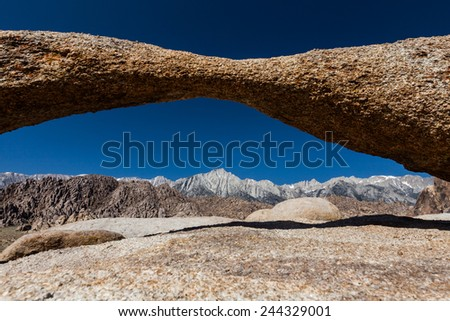 Alabama Hills Area in the sierra of Death Valley National Park, California, USA - stock photo