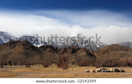 Alabama Hills, Sierra Nevada Mountains, California, USA - stock photo