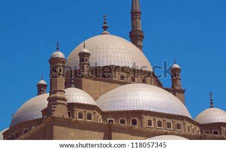 Alabaster mosque in Cairo 2 - stock photo