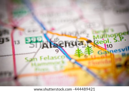Alachua Florida Map.Alachua Florida Usa Stock Photo 444489421 Shutterstock