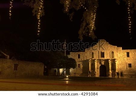 Alamo mission, national historic landmark, in San Antonio, Texas - stock photo