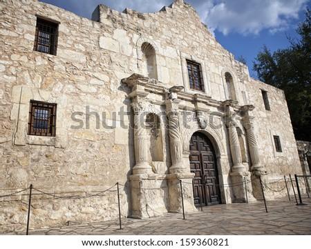 Alamo Mission, San Antonio, Texas, USA. - stock photo