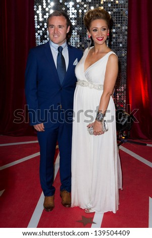 Alan Halsall and Lucy Jo Hudson arriving for the 2013 British Soap Awards, Media City, Manchester. 18/05/2013