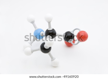 Alanine amino acid molecule - stock photo
