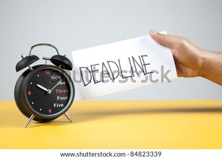 Alarm Clock and deadline reminder - stock photo