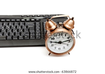 alarm clock and keyboard
