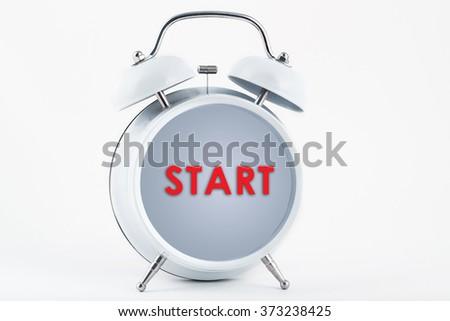Alarm clock and start - stock photo