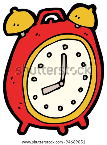 alarm clock cartoon - stock photo