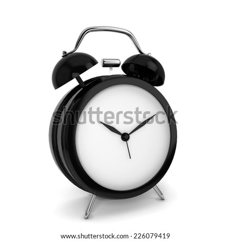 Alarm clock. 3d illustration isolated on white background  - stock photo