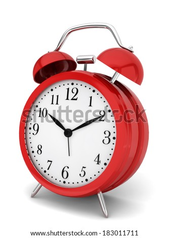Alarm clock. 3d illustration on white background