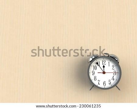 Alarm clock 3d isolated on white backgkround - stock photo