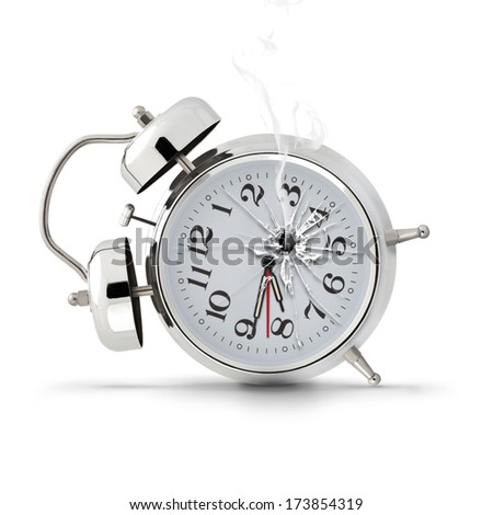 Alarm Clock gunshot - stock photo