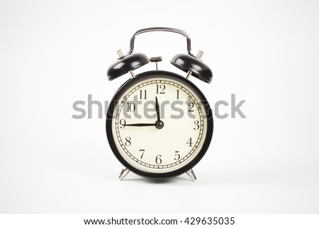 Alarm clock in white background