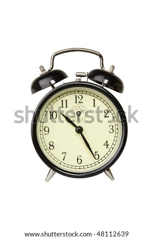 Alarm clock, includes clipping path