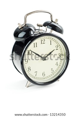 Alarm clock isolated on a white