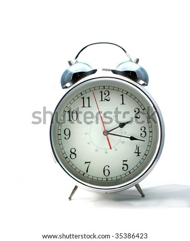 Alarm clock, isolated on white