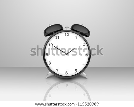 alarm clock  on a gray background