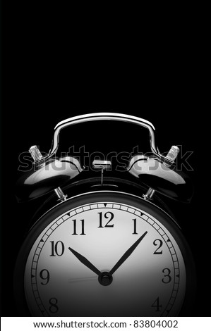 Alarm Clock on black - stock photo