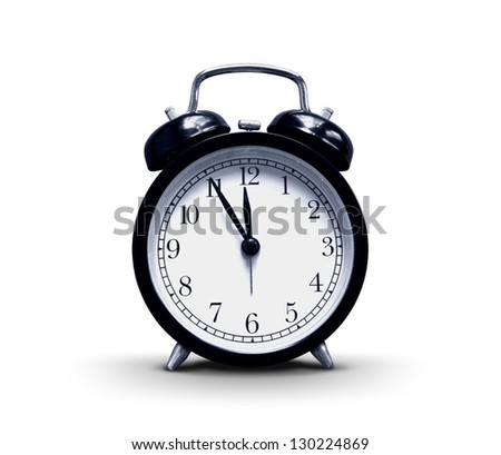 Alarm-clock on white background - stock photo