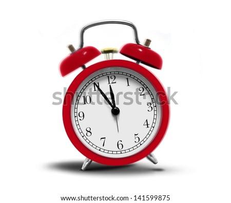 Alarm clock ringing - stock photo
