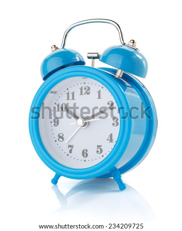 alarm clock watch isolated on white background