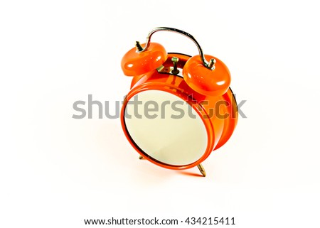 Alarm clock without time isolated - stock photo