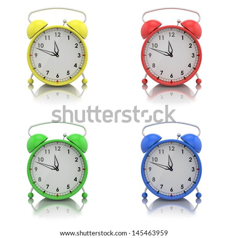 alarm clocks set