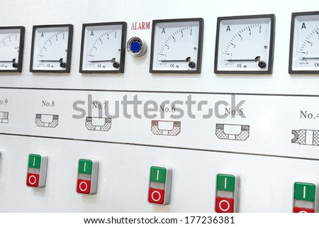 Alarm control center  - stock photo