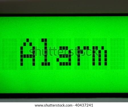 alarm digital message - stock photo