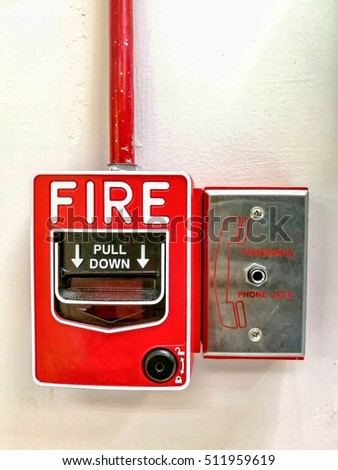 Alarm fire swich and emergency phone connector.