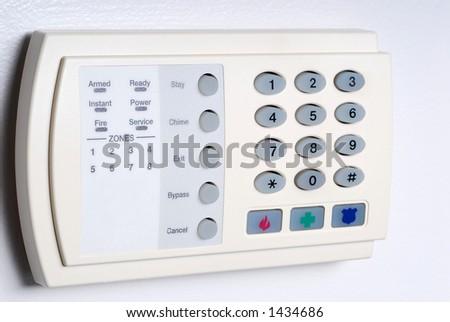 Alarm Key Pad - stock photo