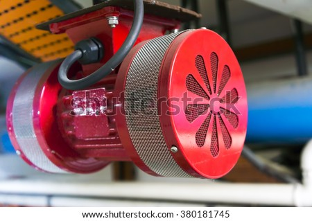 Alarm siren close up - stock photo