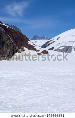 Alaska, aerial view of mountain - Travel Destination - stock photo