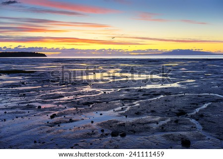 Alaska - Anchorage Seashore - stock photo
