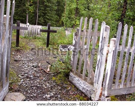 Alaska Cemetery - stock photo