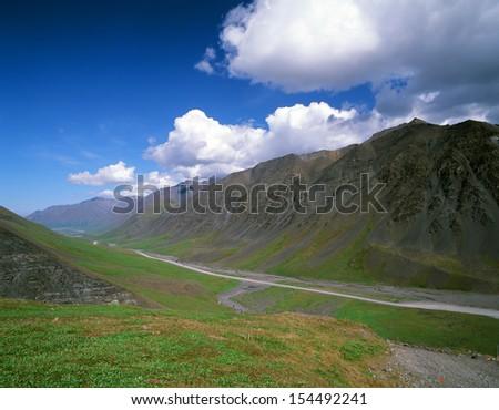 Alaska - Dalton Highway (Haul Road) from Fairbanks to Dead Horse, USA - stock photo