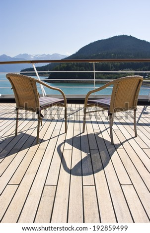 Alaska - Enjoy Haines - Relaxing On The Deck Of The Cruise Ship - Travel Destination / Alaska - Haines - Relaxing On The Deck Of The Cruise Ship