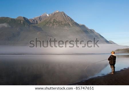 Alaska Fisherman - stock photo